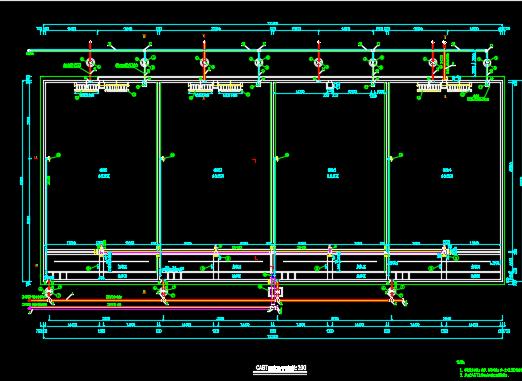污水处理厂CAST反应池设计图纸