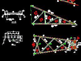 耐张塔铁塔结构施工图纸
