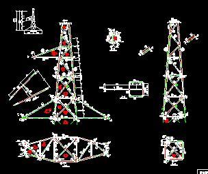 送电线路铁塔结构设计图纸