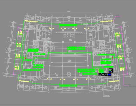 金融中心四区夜景照明项目施工图纸