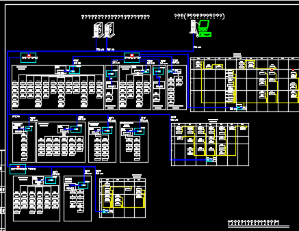商业、百货、娱乐楼电力监控系统图纸