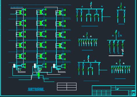 六层住宅楼电气平面图