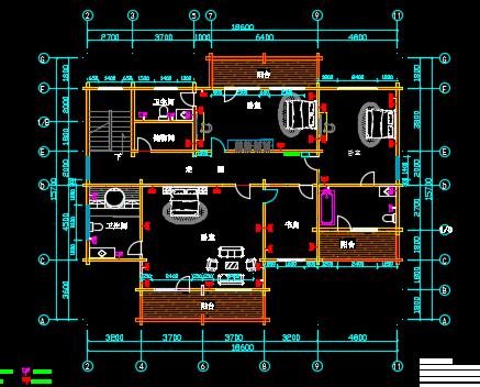 二层木制别墅电气设计图纸