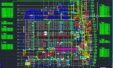 大型超市电气平面图