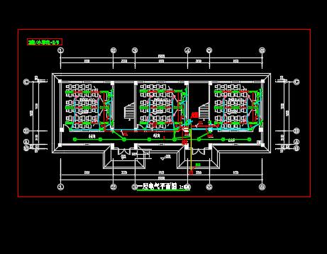 三层教学楼电气施工图纸