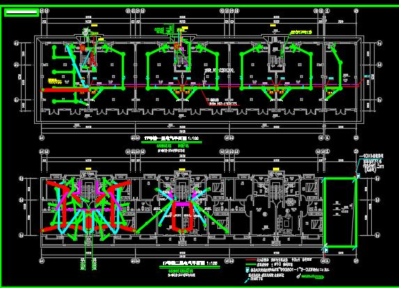 七层商住楼电气施工图纸
