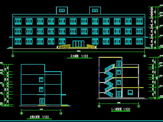 四层砌体结构办公楼设计图纸