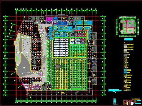 大型?#20309;�y行?#35013;修、结构、水电暖施工图纸