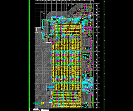 某大型阛阓土木工程论文施工图纸