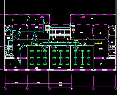 二层厂房及宿舍电气设计图纸