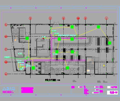 三层商业办公楼建筑电气施工图(含给排水、暖通)