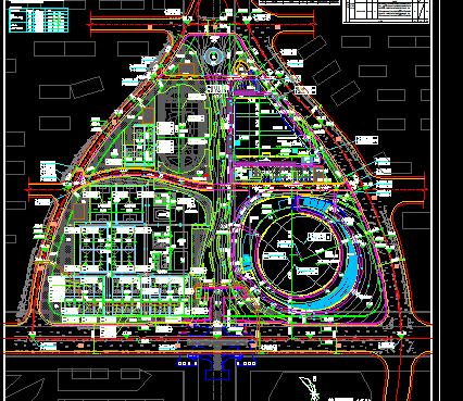 某国际体育馆建设施工总图(含建筑、结构、给排水、电气、暖通)
