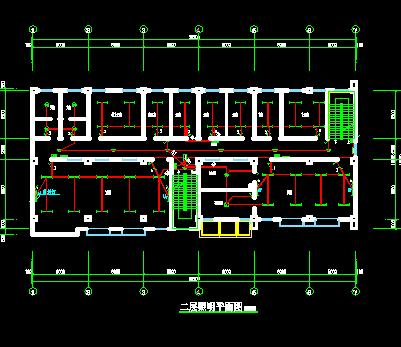 三层框架结构幼儿园电气施工图纸