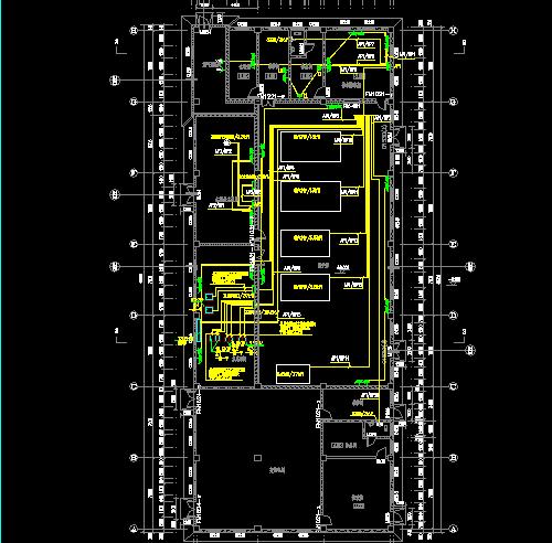现浇钢筋混凝土框架结构试验中心电气施工图