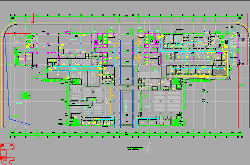 十六层医院强电工程电气施工设计图(含人防)