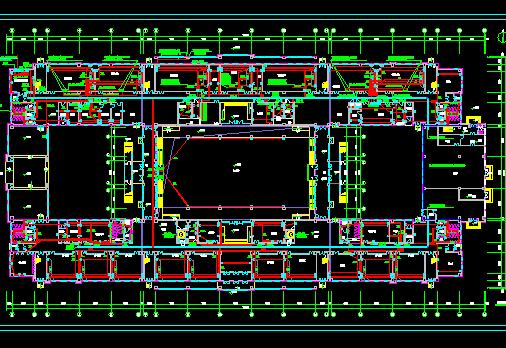 多层公共建筑框架结构电气工程施工图纸
