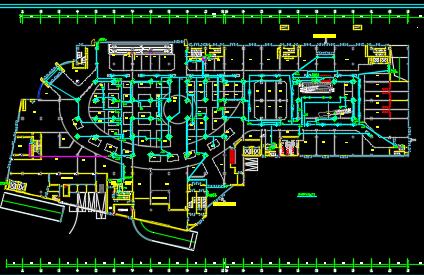某商业楼电气给排水、暖通装饰施工图纸