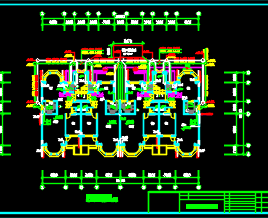10套四层联排别墅给排水采暖电气施工图
