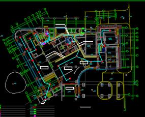 十层商务区大型酒店电气施工图