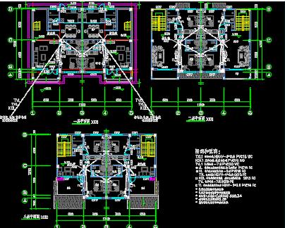 住宅区水电设计图纸
