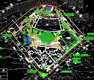 5816平米办公区电气总平面图
