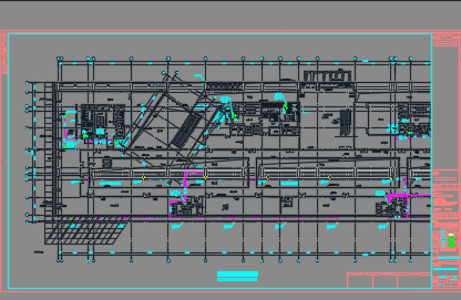大型剧场及商业楼机电设备施工图纸(含电气、暖通、给排水)