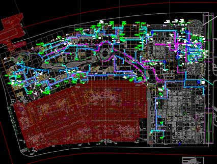 大型商业综合体全套电气施工图纸(含机房)