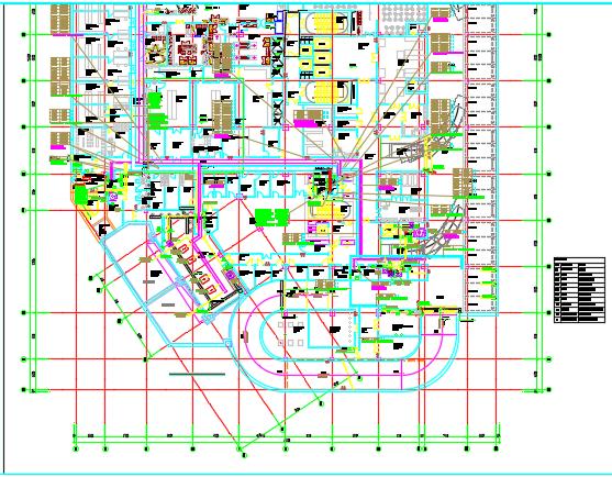 大型综合医院电气、给排水、暖通施工图纸