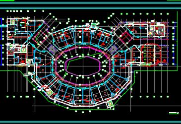 大型商业购物中心电气施工图纸