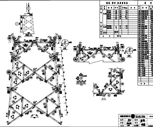 110kV铁塔施工图纸(PDF格式)