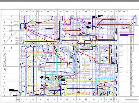 商业区办公楼电气施工图纸