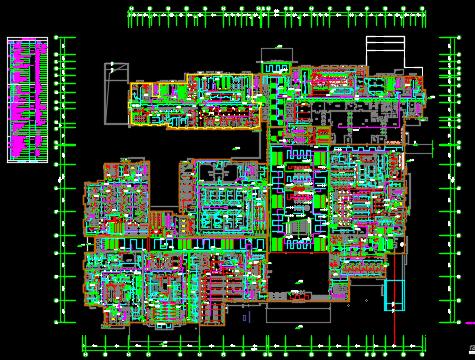 某医院工程电气施工图纸(含给排水、暖通、装修)