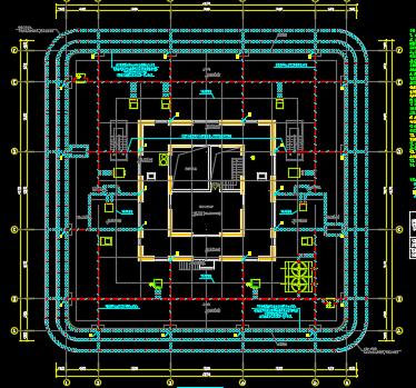 大型城市综合体办公及住宅机电施工图纸(带人防)