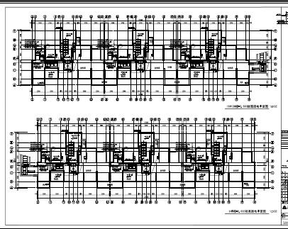 公租房社区机电设备施工图纸(含电气、暖通、给排水)