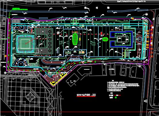 大型商业广场商办楼电气施工图纸