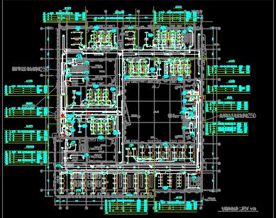 大型居住区配套学校电气施工图纸