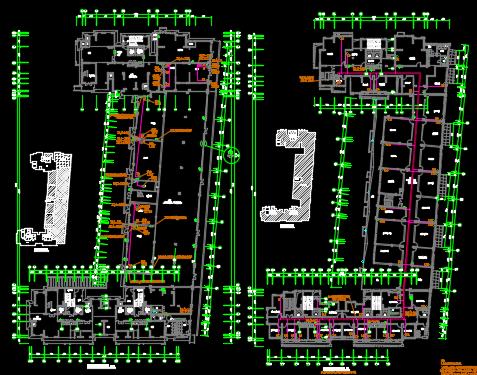 高层住宅楼及商办楼强弱电施工图纸