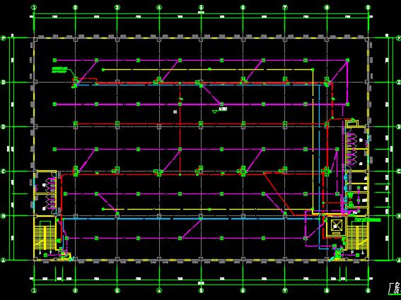 四层厂房电气设计图纸