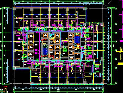 贸易中心设计图纸(含建筑结构水电暖)