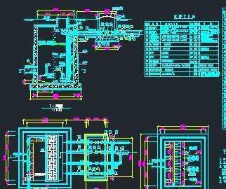 某污水提升泵站工艺设计图免费下载 - 独立泵房及机房