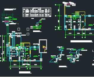 某地下车库内消防泵房设计图