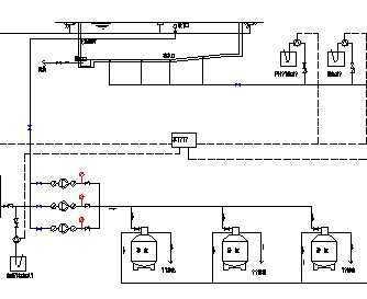 某室内游泳池工艺流程图免费下载 - 独立泵房及机房图