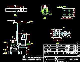 某厂房生活污水,雨水提升泵房施工图图片