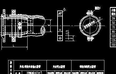 胶管与金属管连接法兰盘接头图