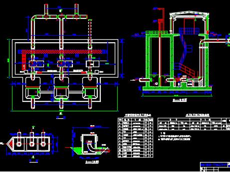 取水头部及一级泵站工艺设计图