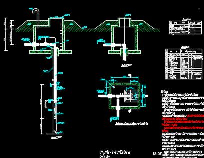 山区隧道水源井设计图