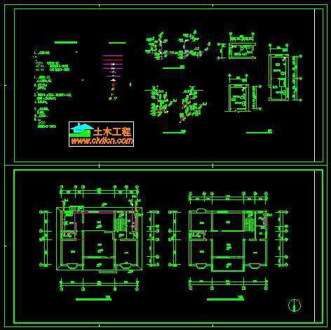 二层别墅给排水系统图