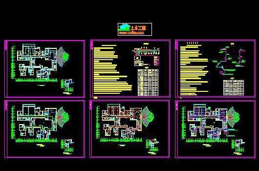 宾馆消防图纸免费下载 - 多层建筑给排水图 - 土木