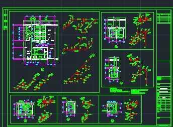 某单位集体宿舍给排水系统设计图