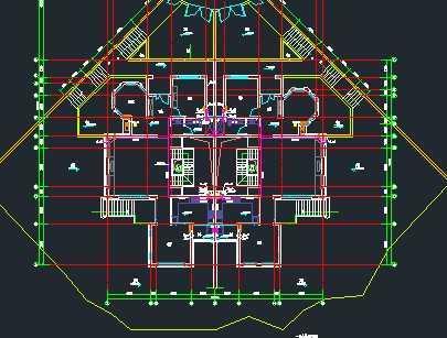 某双拼别墅给排水系统设计图